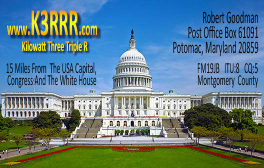 K3RRR USA Capital QSL Card