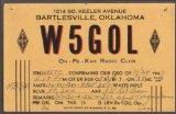 W5GOL G Len DeCou Bartlesville OK QSL card 1947