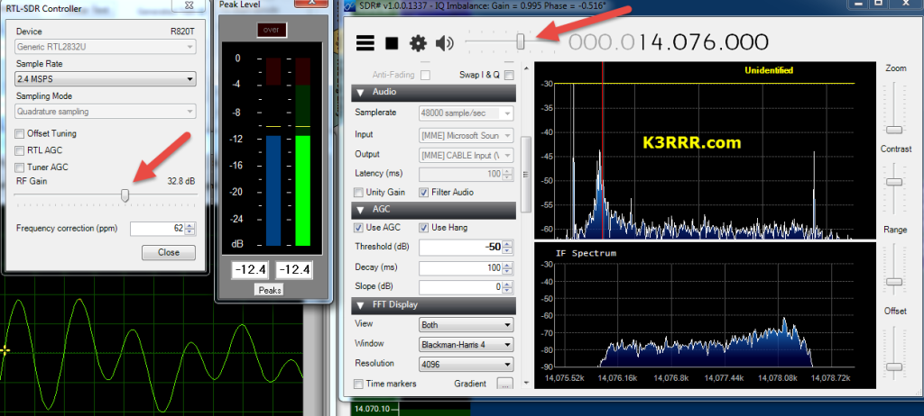 RTL-SDR Proper Levels Setting for Maximum Decodes