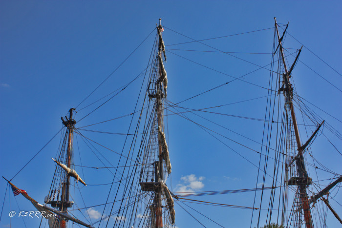 As a side note, my wife and I were actually on the HMS Bounty a few years ago when it visited St. Pete, Florida.)