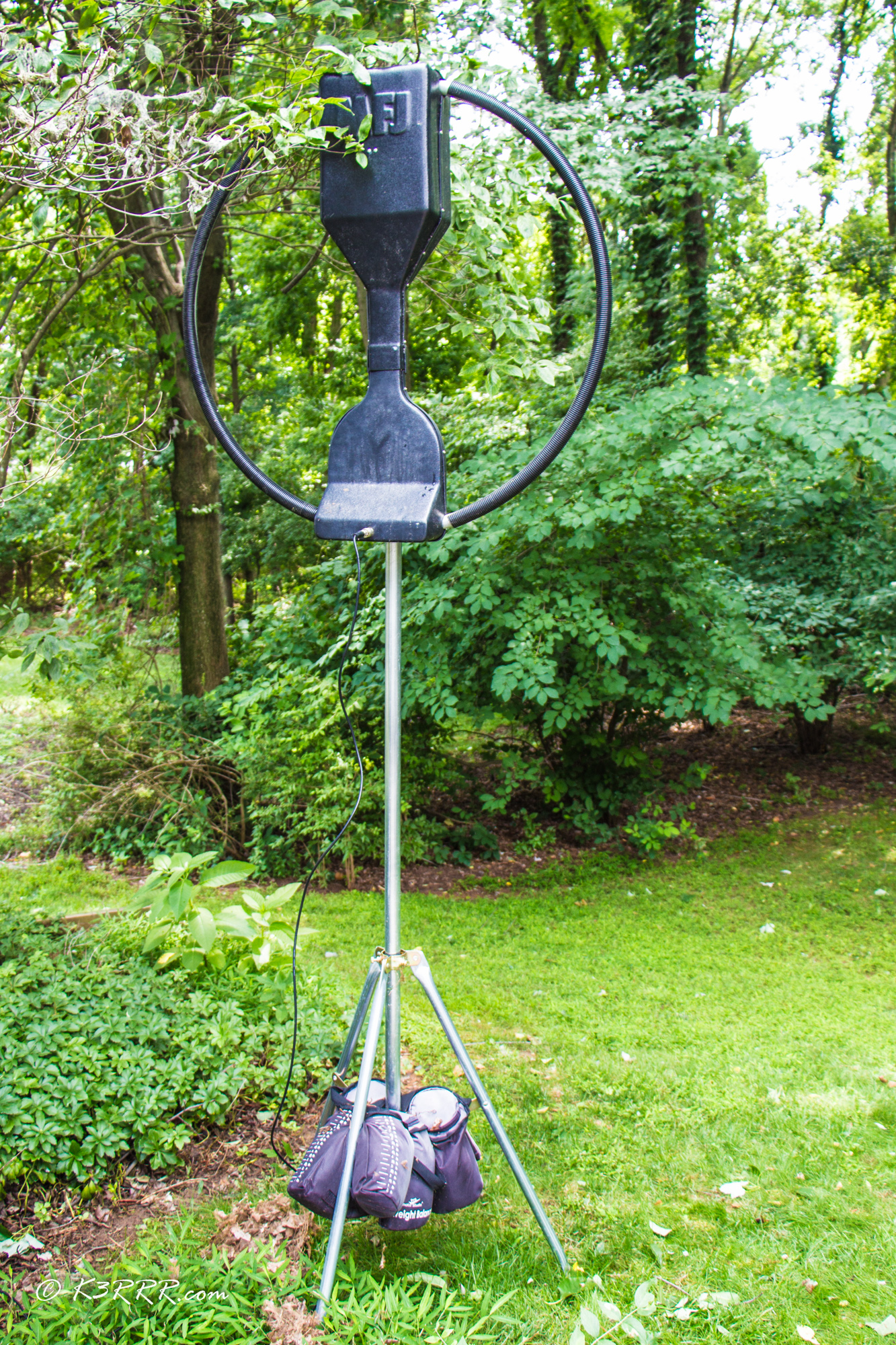MFJ-1786 Loop Antenna - My Stealth Antenna Installations | K3RRR