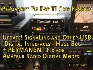 signalink and other usb digital interfaces huge bug fix for amateur radio digital modes k3rrr. Black Bedroom Furniture Sets. Home Design Ideas