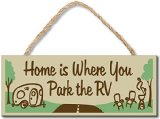 My Word 4 x 10-Inch Rope Sign, Park The Rv