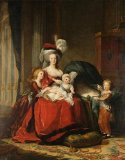 Oil Painting 'Louise Lisabeth Vigee Le Brun-Marie Antoinette And Her Children,1787' Printing On High Quality Polyster Canvas , 24x31 Inch / 61x78 Cm ,the Best Hallway Decoration And Home Decoration And Gifts Is This High Quality Art Decorative Prints On Canvas