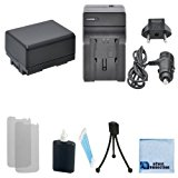 BP-718 Canon Replacement Battery + Car/Home Charger for Canon LEGRIA HF R42, R400, BP-709, BP-727, R50, R52, R500 & More . . . Camcorder + Complete Starter Kit