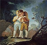 Oil Painting 'Goya Y Lucientes Francisco De Boys Inflating A Bladder 1778 ' Printing On Perfect Effect Canvas , 24 X 25 Inch / 61 X 64 Cm ,the Best Home Theater Decor And Home Decoration And Gifts Is This Beautiful Art Decorative Canvas Prints