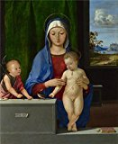 The High Quality Polyster Canvas Of Oil Painting 'Antonio De Solario - The Virgin And Child With Saint John,about 1500-10' ,size: 10x12 Inch / 25x31 Cm ,this Cheap But High Quality Art Decorative Art Decorative Prints On Canvas Is Fit For Living Room Decoration And Home Decor And Gifts