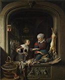 High Quality Polyster Canvas ,the Vivid Art Decorative Prints On Canvas Of Oil Painting 'Gerrit Dou A Poulterer's Shop ', 8 X 10 Inch / 20 X 25 Cm Is Best For Basement Artwork And Home Gallery Art And Gifts